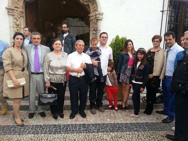 Representantes de Consuegra y del Restaurante San Poul al llegar a Olivenza